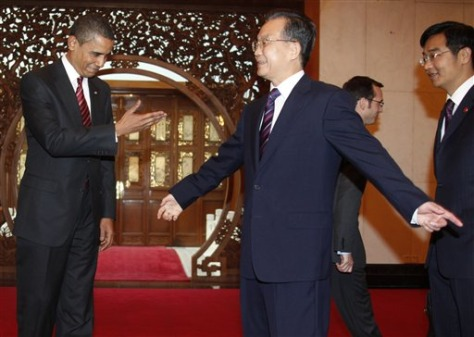 Image: Barack Obama and Wen Jiabao