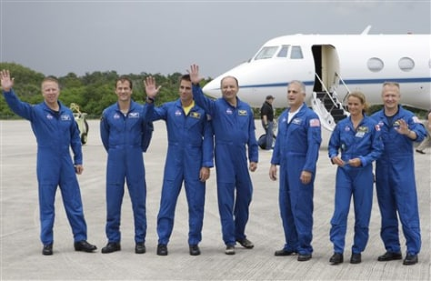 Image: Endeavour crew