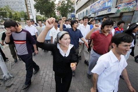Image: Uighurs protesting
