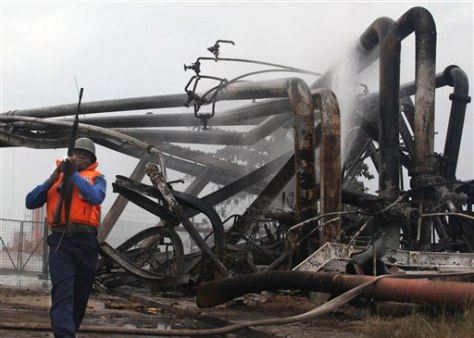 Image: Damaged pipeline