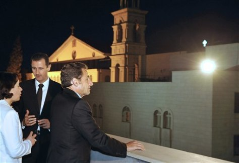 Image: Bashar Assad and Nicolas Sarkozy