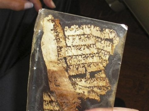 MIDEAST ISRAEL ANCIENT BIBLE