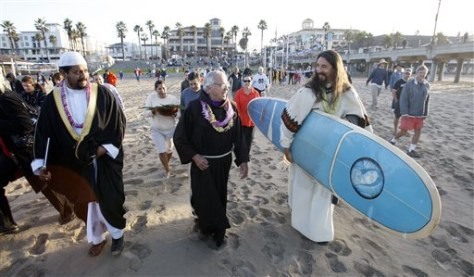 Image: surfing priests