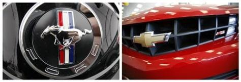 Image: Mustang, Chevy logos