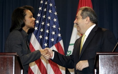 Image: Rice and Iraqi foreign minister