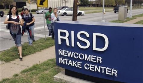 IMAGE: Student intake center in suburban Dallas
