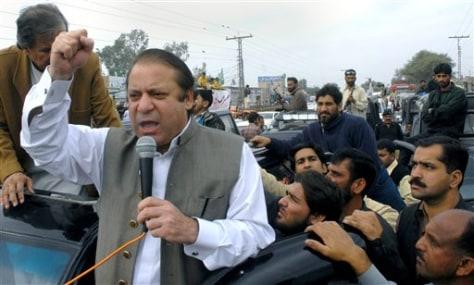 Image: Pakistan's Nawaz Sharif