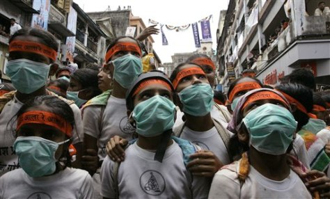 Image: India swine flu