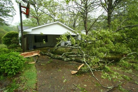 Image: Storm damage in Mississippi