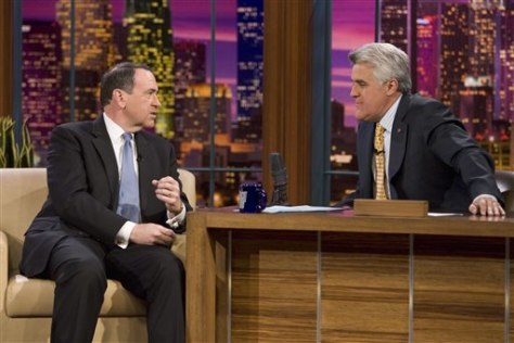 Image: Mike Huckabee and Jay Leno