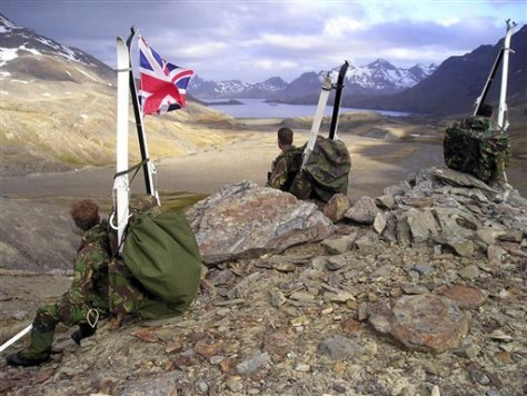 IMAGE: BRITISH SOLDIERS ON SOUTH GEORGIA