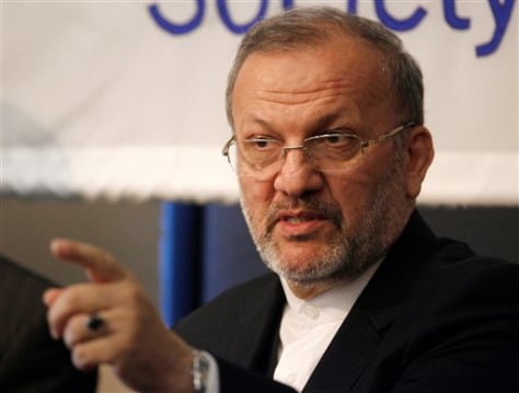 Image: Iranian Foreign Minister Manouchehr Mottaki