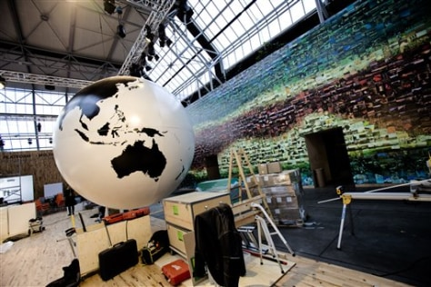 Image: Display prepared for climate convention