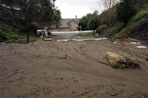Image: California storm triggers mudslide