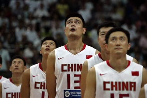 Image: Chinese hoops team