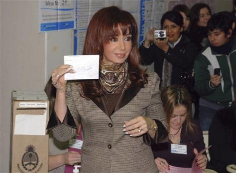 Image: Argentine President Fernandez