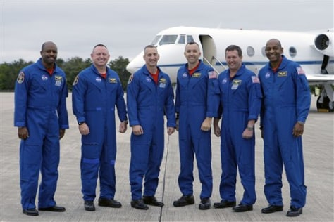 Image: Crew of the Atlantis space shuttle