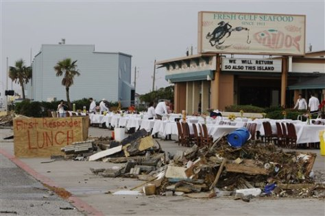 Image: Galveston debris and free lunch