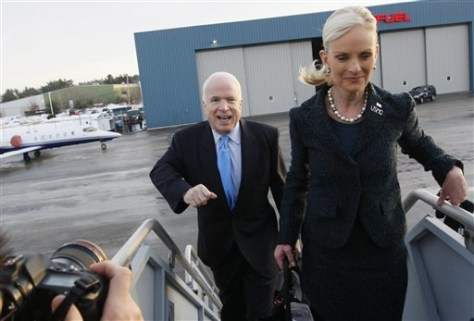 IMAGE: Sen. John McCain, R-Ariz., and wife Cindy