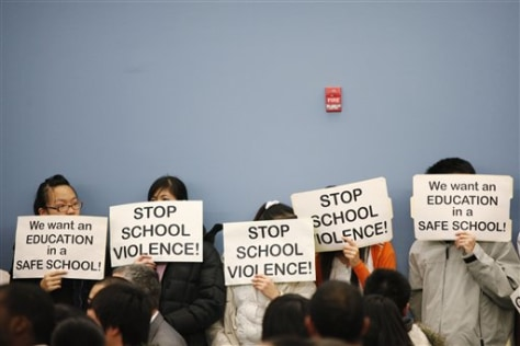 Image: Asian students protest