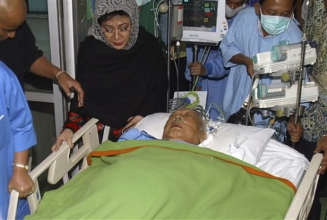 IMAGE: Suharto in hospital