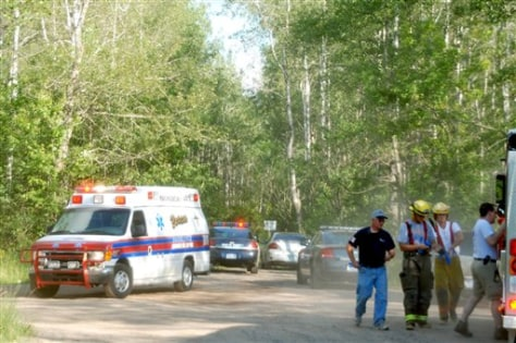 Image: Emergency crews rush to scene