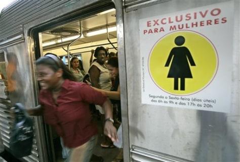 IMAGE: Women-only subway car in Rio de Janeiro