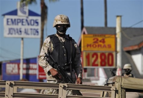 Image: Soldiers in Tijuana, Mexico