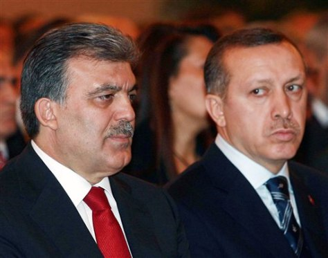 Image: Turkish president and prime minister
