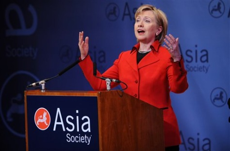 Image: Clinton at the Asia Society