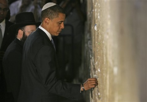 Image: Obama's prayer