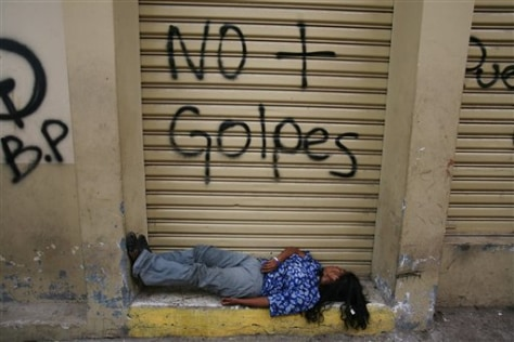 Image: A woman sleeps in Honduras