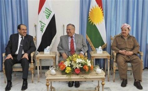 Image: Nouri al-Maliki, Jalal Talabani, Massoud Barzani