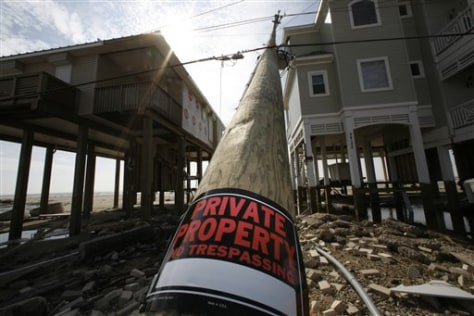 Image: Private property sign on beach