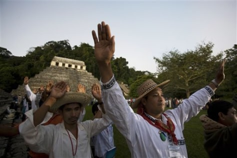 IMAGE: CEREMONY AT PALENQUE RUINS