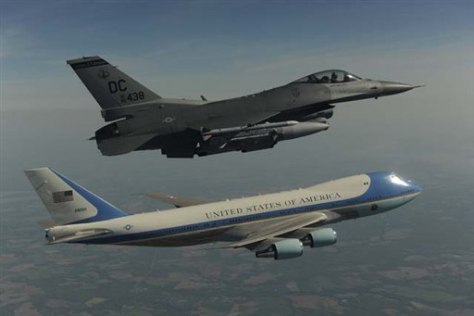 Image: Air Force One flyover