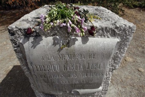 Image: Memorial to Spanish poet