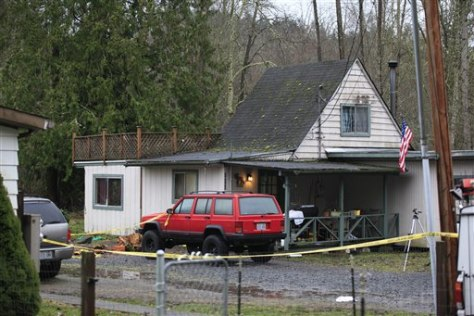 Image: Home where police were shot