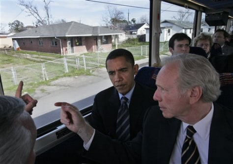 Image: Barack Obama and Joe Lieberman