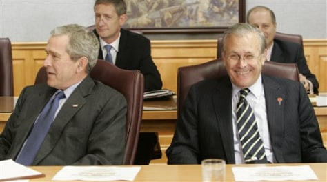 President Bush and Sec. of Def. Rumsfeld