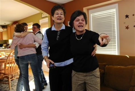 Image: Iowa gay marriage supporters celebrate