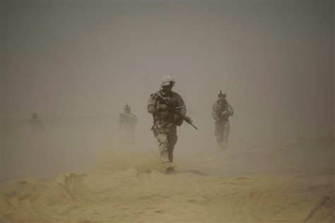 Image: U.S. Marines in Camp Leatherneck