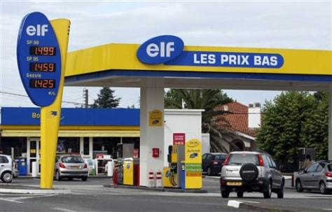 Image: French petrol station