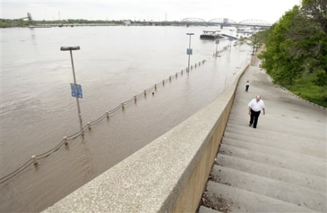 Image: Flooded area in St. Louis