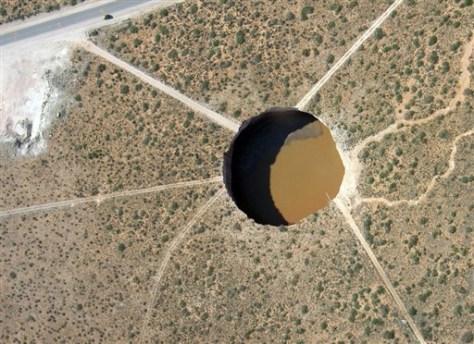 Image: New Mexico sinkhole