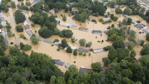 Image: Flooded homes near Atlanta