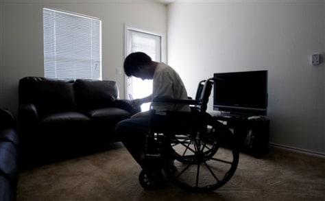 Image: Disabled vet Isaac Stevens