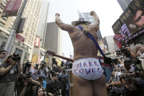 Naked Cowboy Candidate