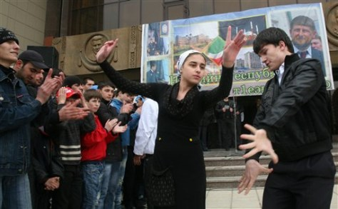 Image: Dancing in Chechnya