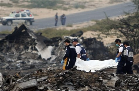 APTOPIX Emirates Plane Crash
